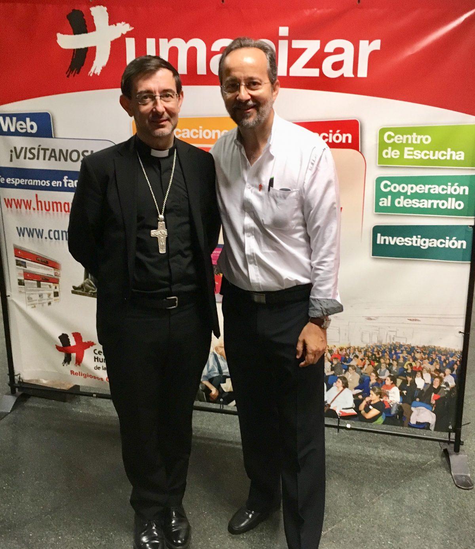 Mons. José Cobo y José Carlos Bermejo