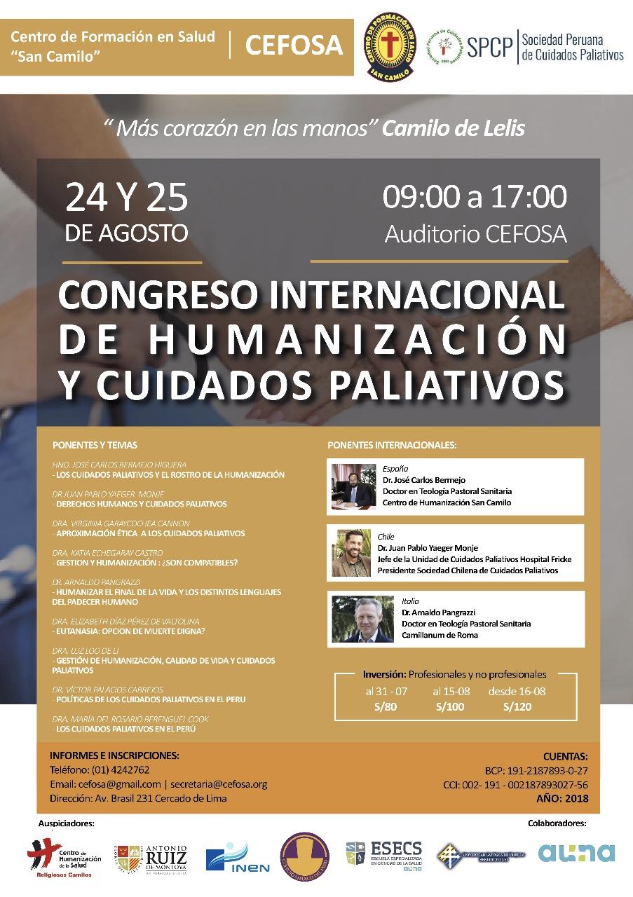 I Congreso de Cuidados Paliativos y Humanización
