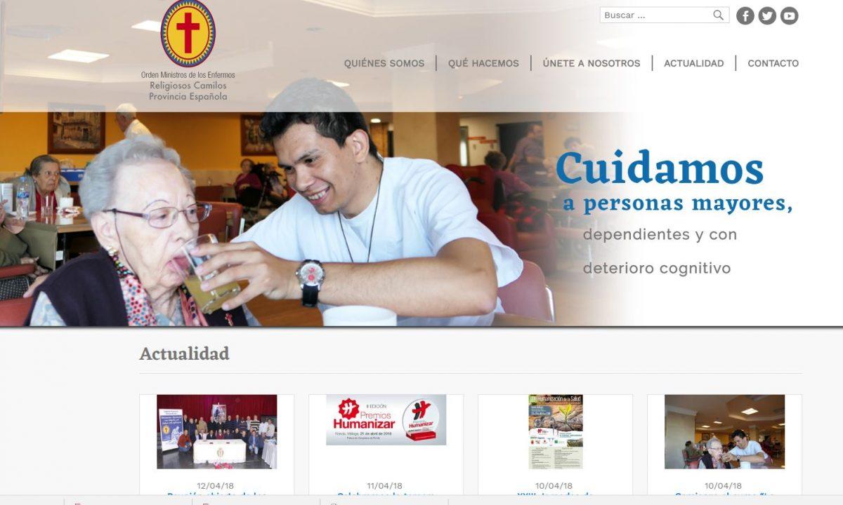 Los religiosos camilos de España renovamos nuestro Portal WEB