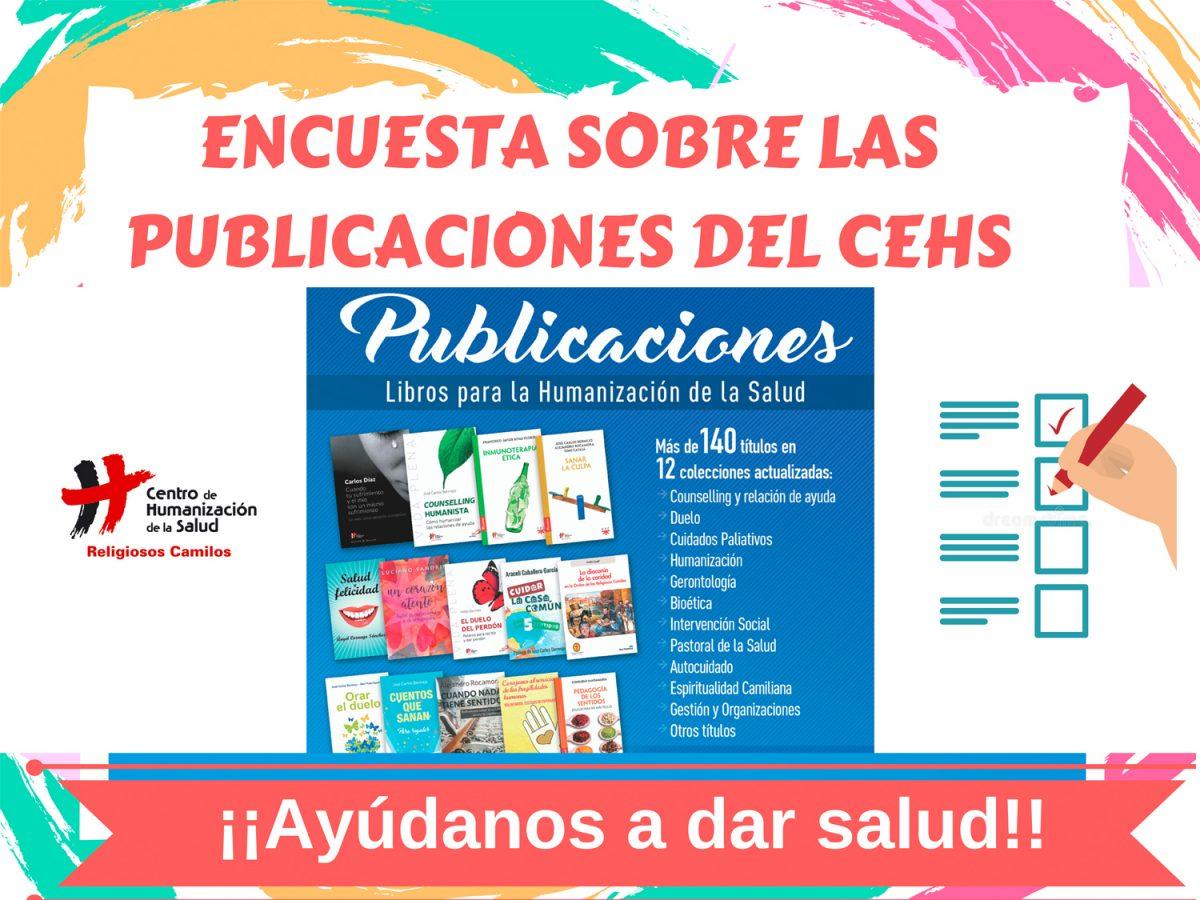 Te invitamos a participar en la encuesta sobre las Publicaciones del CEHS