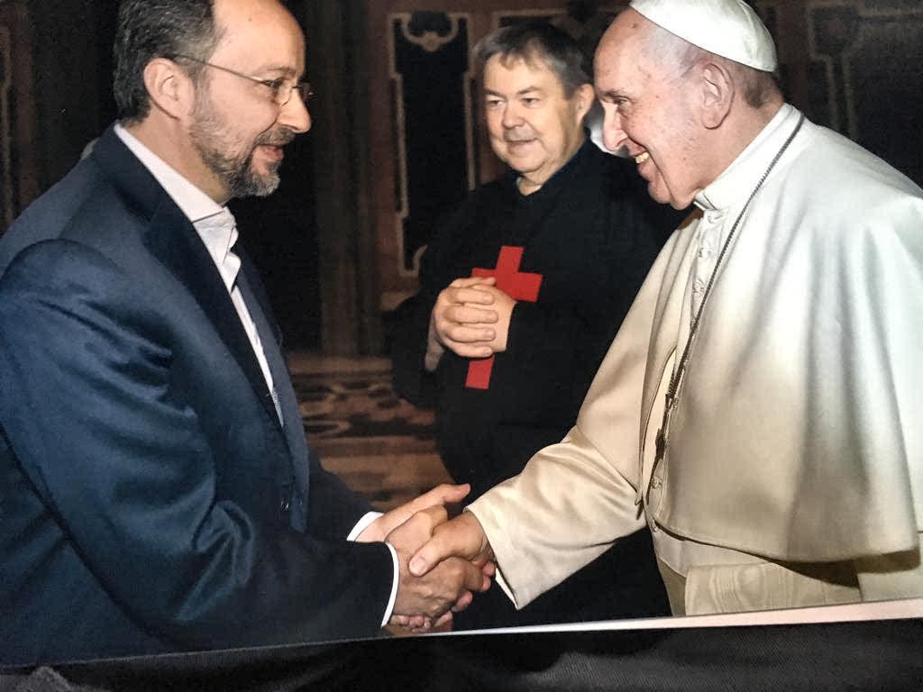 Jose Carlos Bermejo y el Papa Francisco
